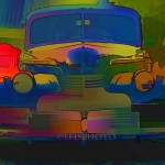 1940 Chevy - psychedelic